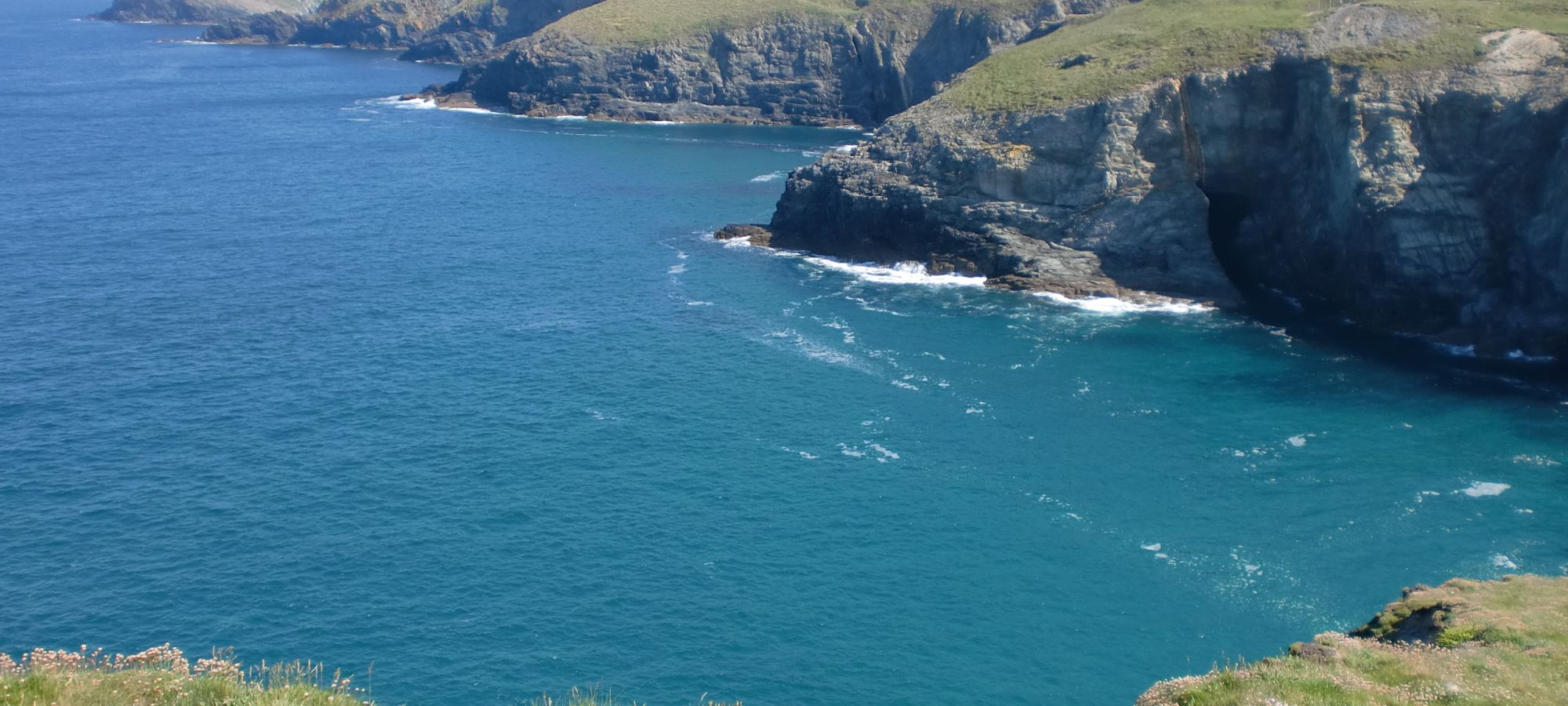 north coast cliffs and blue seas