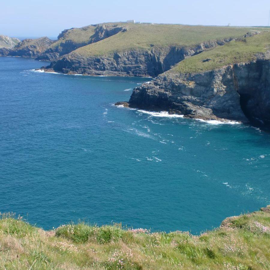 north coast cliffs and blue seas