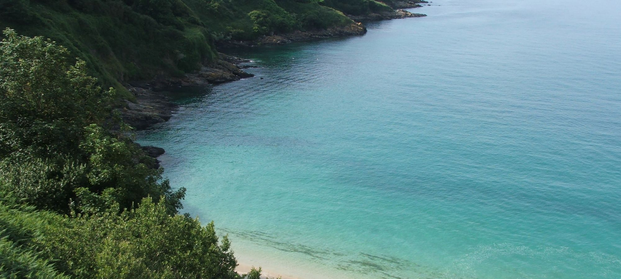 Blue seas at Hawk's Point at Carbis Bay, Cornwall
