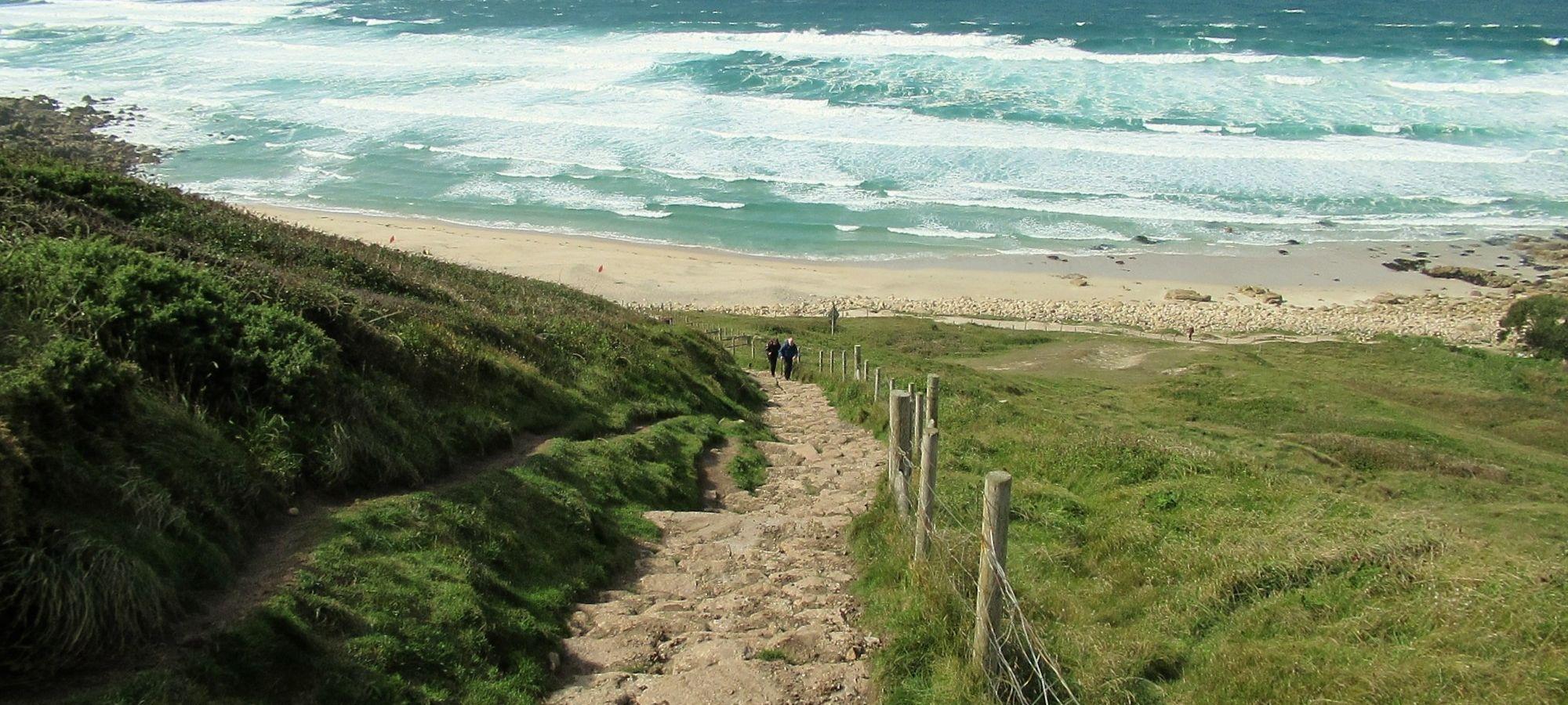 Steps at Gwenver, Cornwall