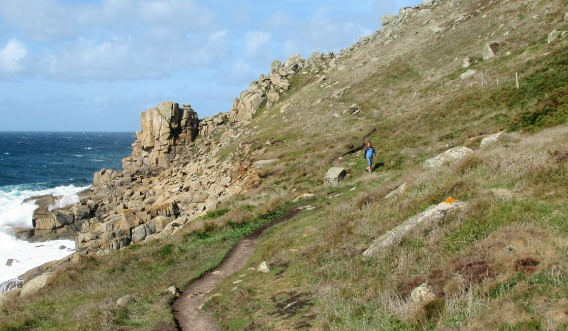 walking the coast path at Gwenver