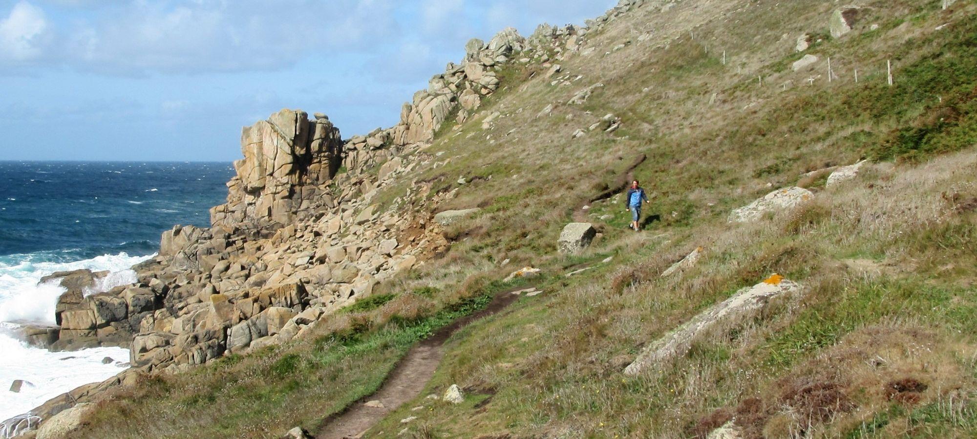 walking the coast path at Gwenver