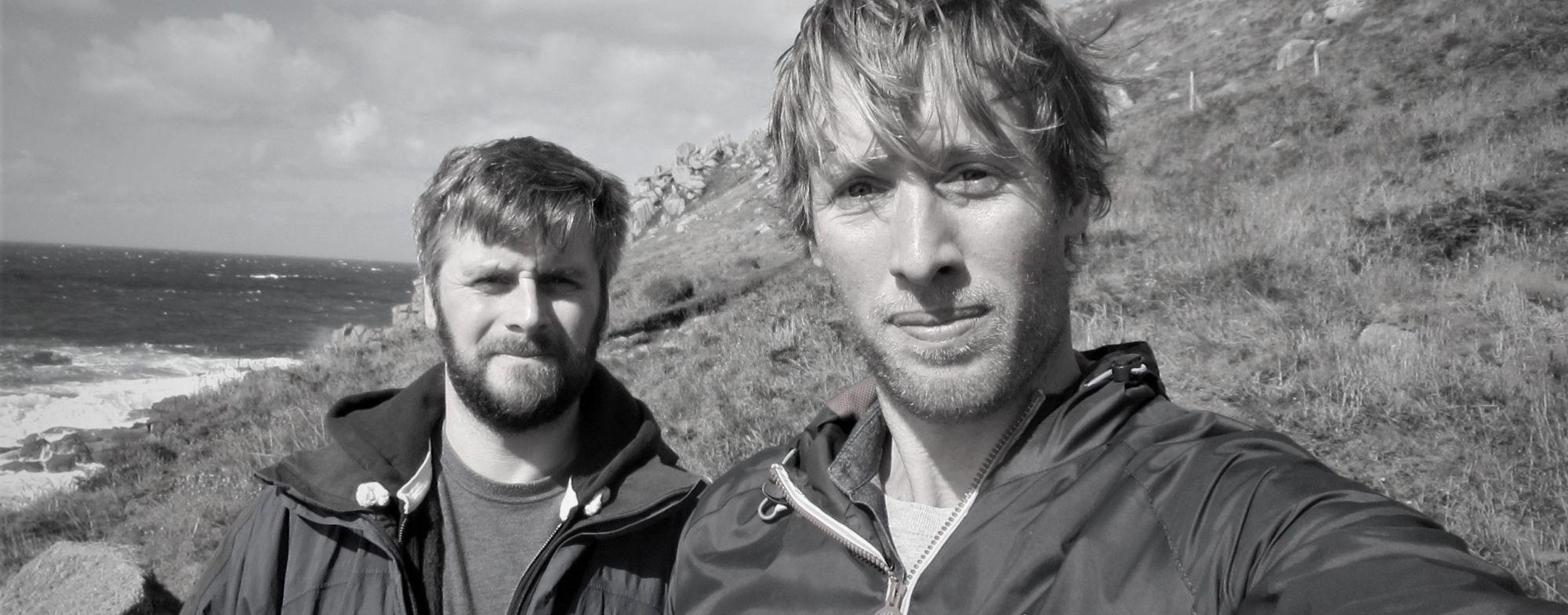 Russ & Matt from Western Discoveries (Gwenver beach)