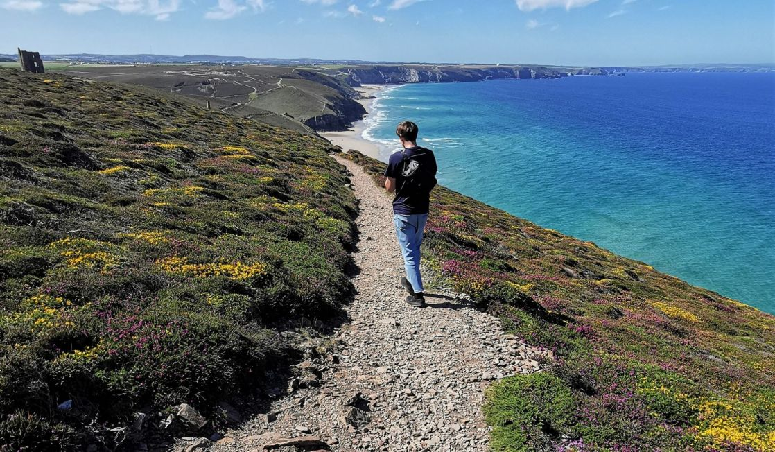 Walker on the South West Coast Path
