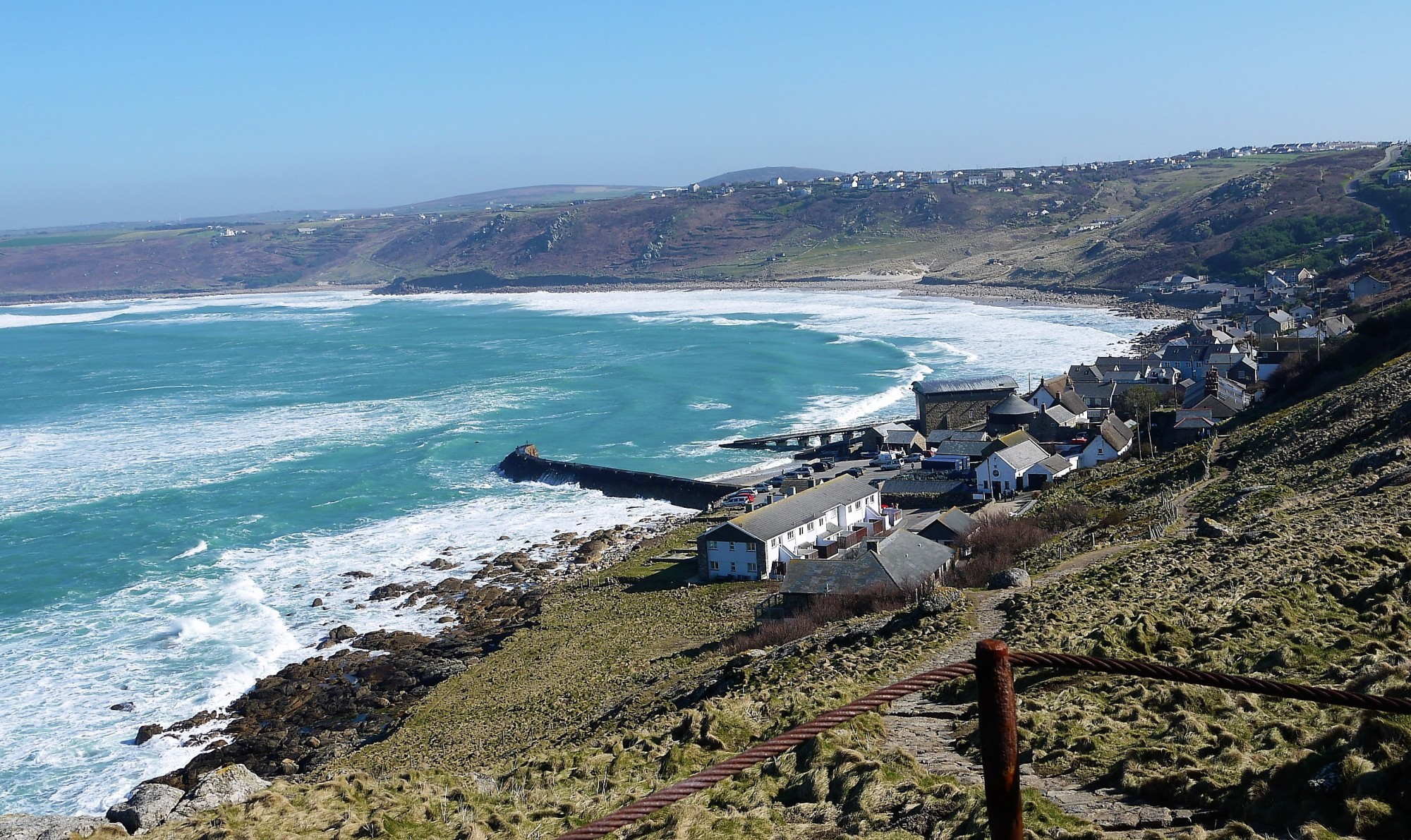 Sennen Cove winter scene