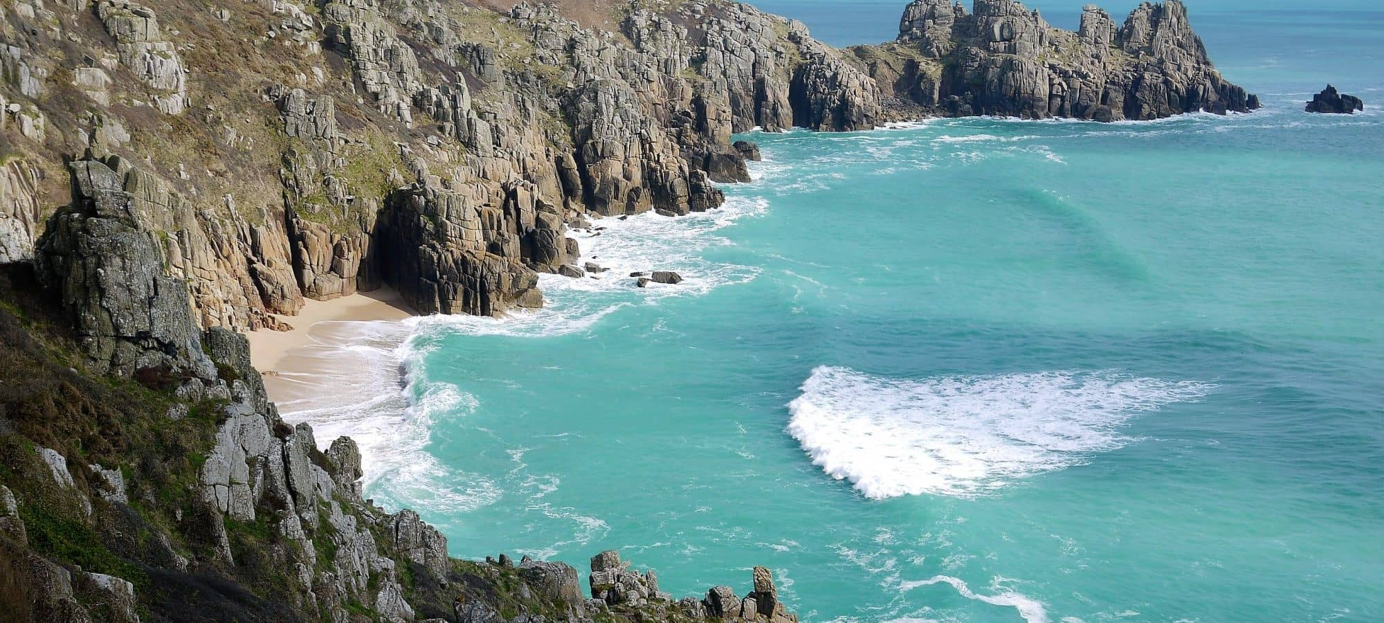 Porthcurno and Pedn Founder, West Cornwall
