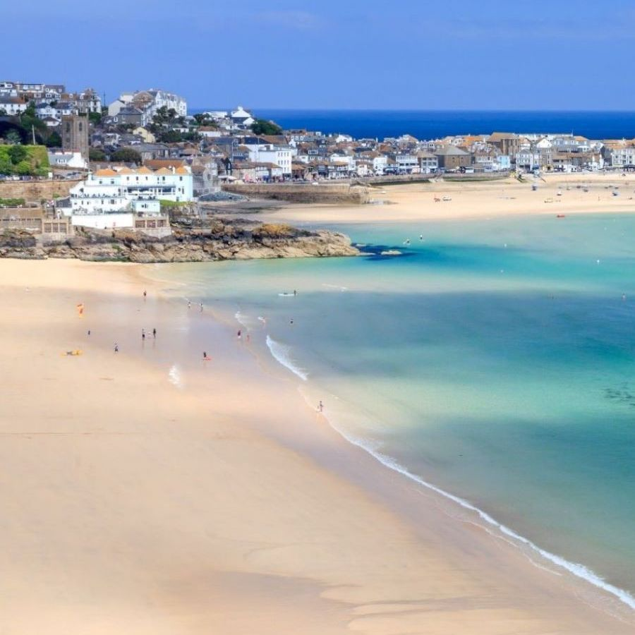 St Ives harbour and boats