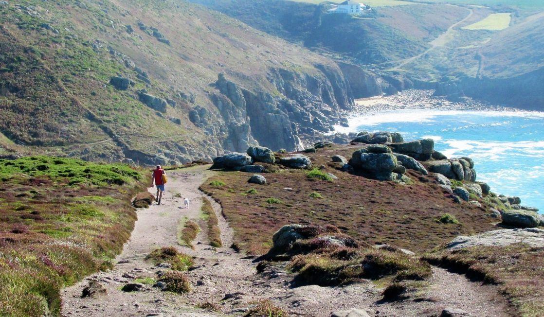 Nanjizal hiker - Cornwall