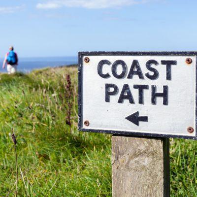 Coast Path sign