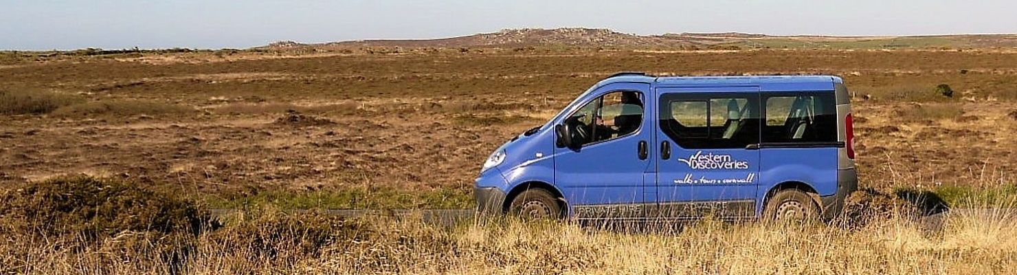 Western Discoveries minibus on the moors