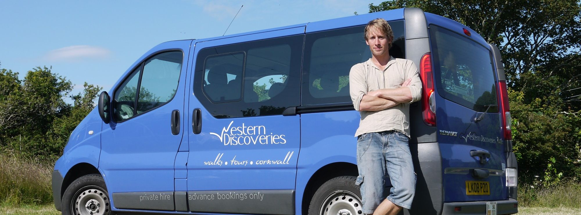Western Discoveries minibus and staff