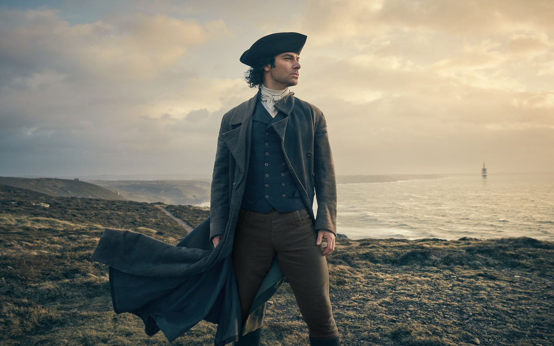 Poldark on the cliff tops