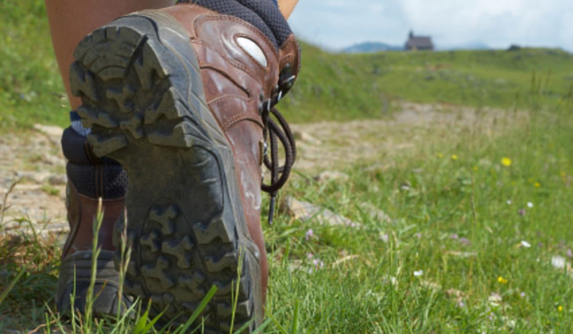 Hiking boots on the move