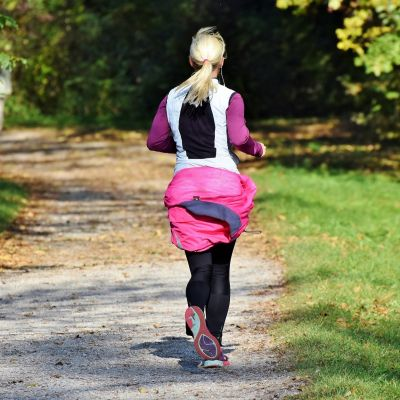 lady jogging in the park