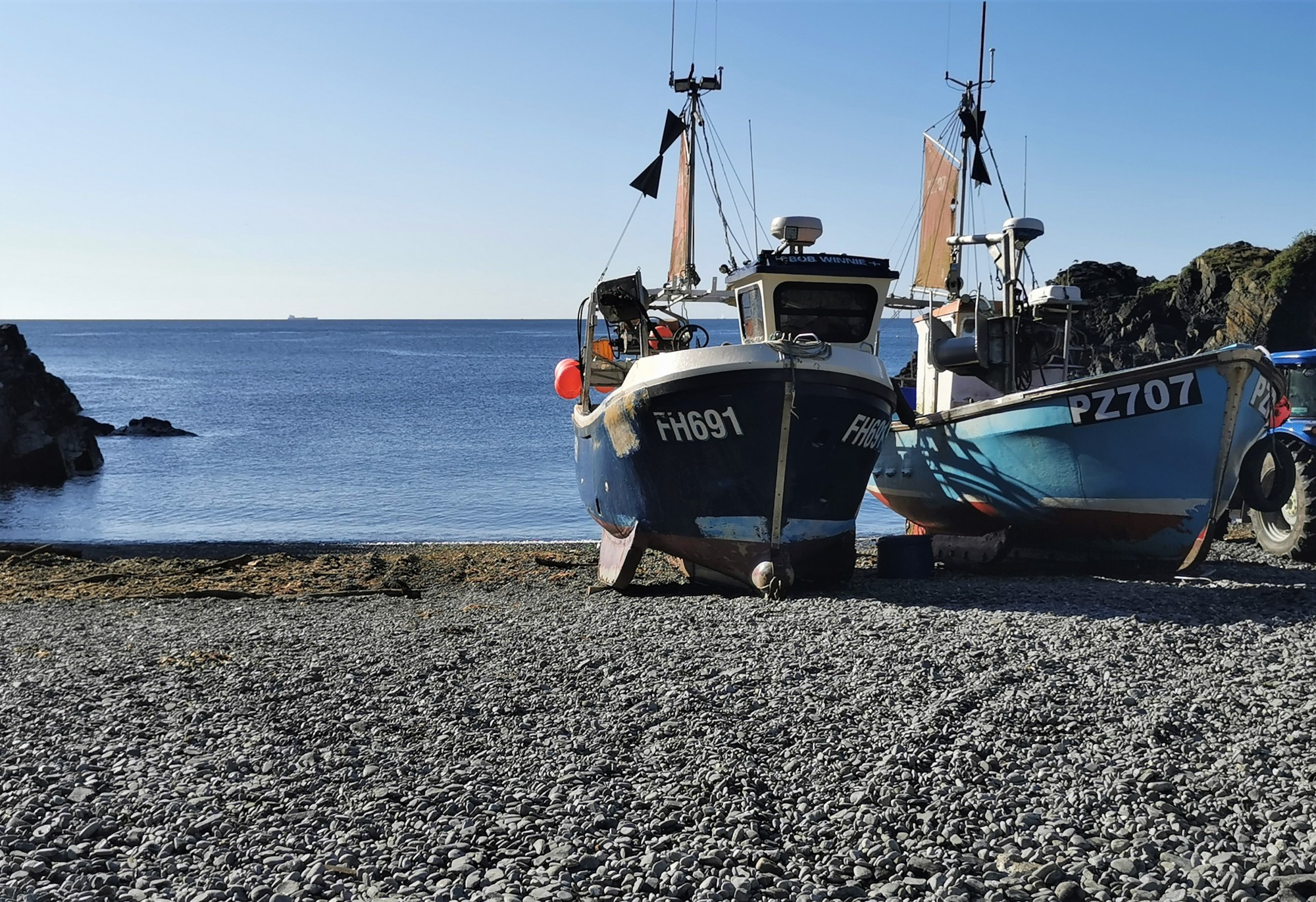 Boats on the beach at Cadgwith