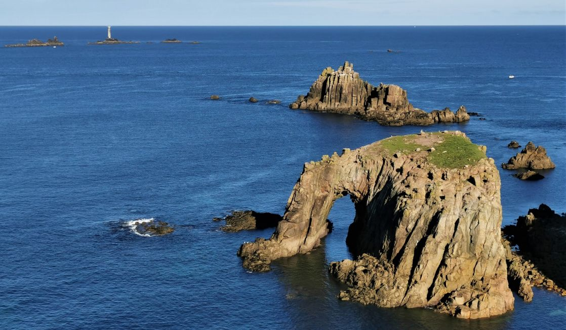 Lands End sea arch and stack