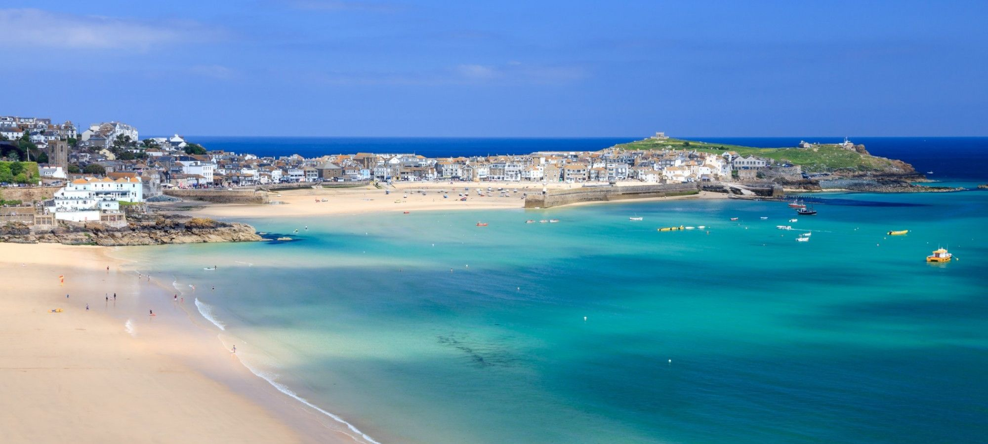 St Ives Harbour and Porthminster beach