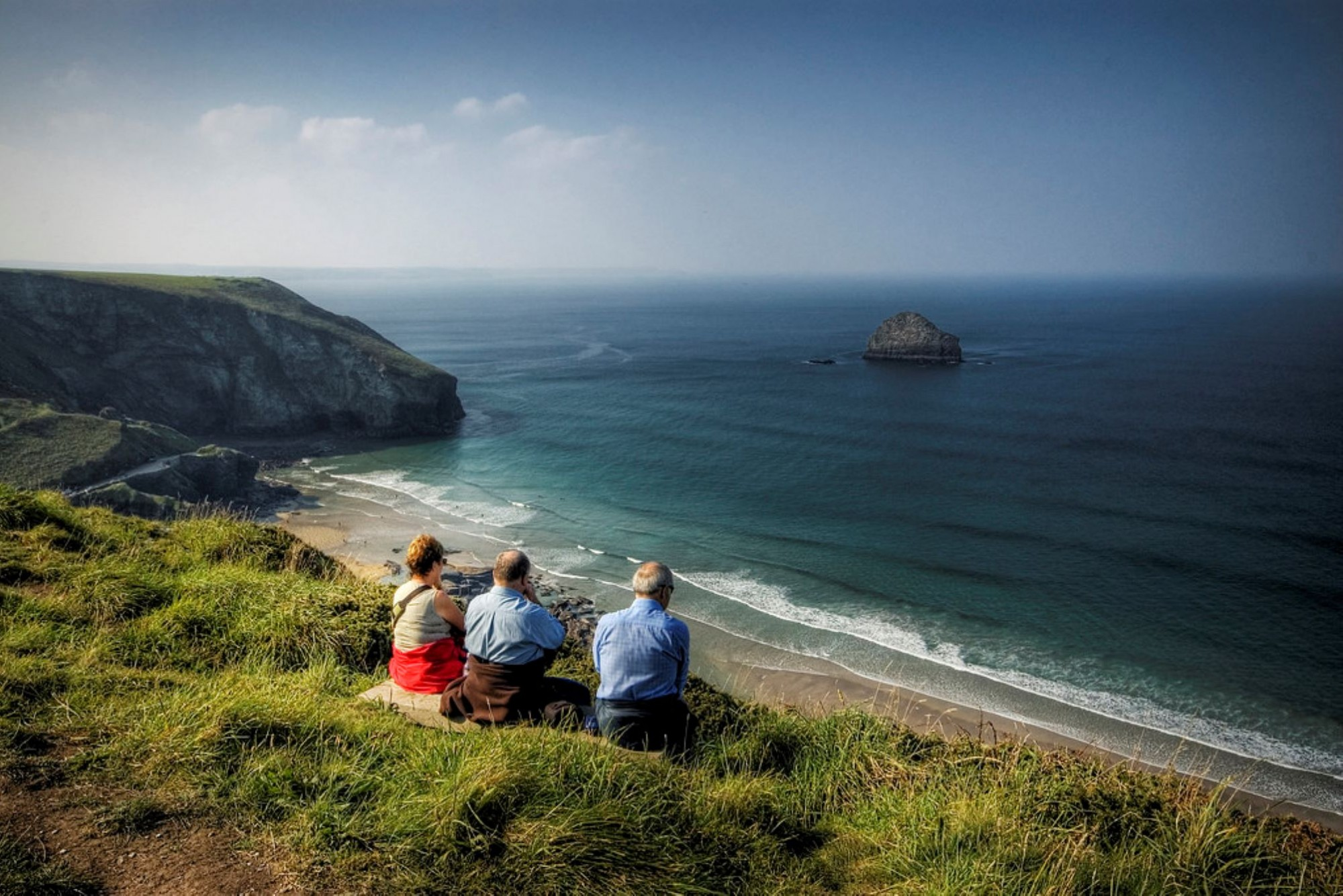 The sea at Trebarwith Strand. Photographer Dan Martin, Saltash
